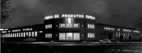 """Instalações da """"PE"""" na famosa """"rotunda dos Produtos Estrela"""" (1948 - 1990)"""