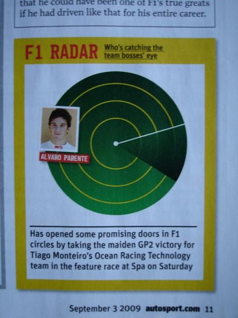 Na reportagem da F1 Autosport UK